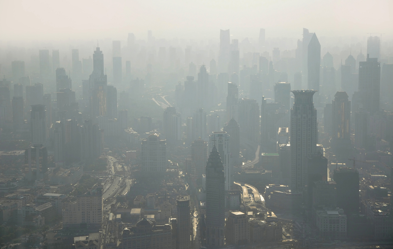 city with pollution