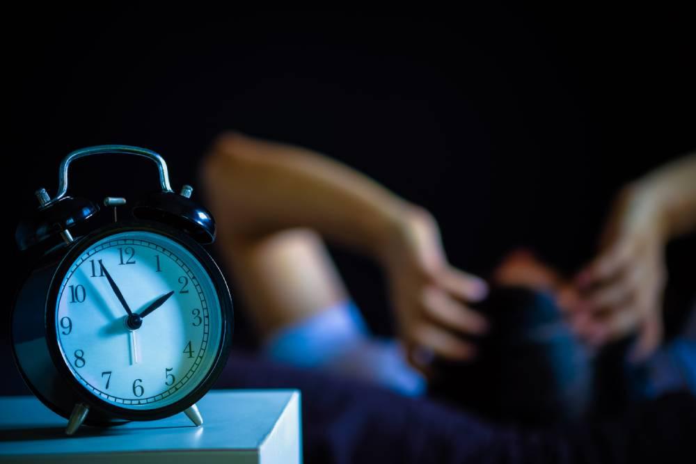 alarm clock with man