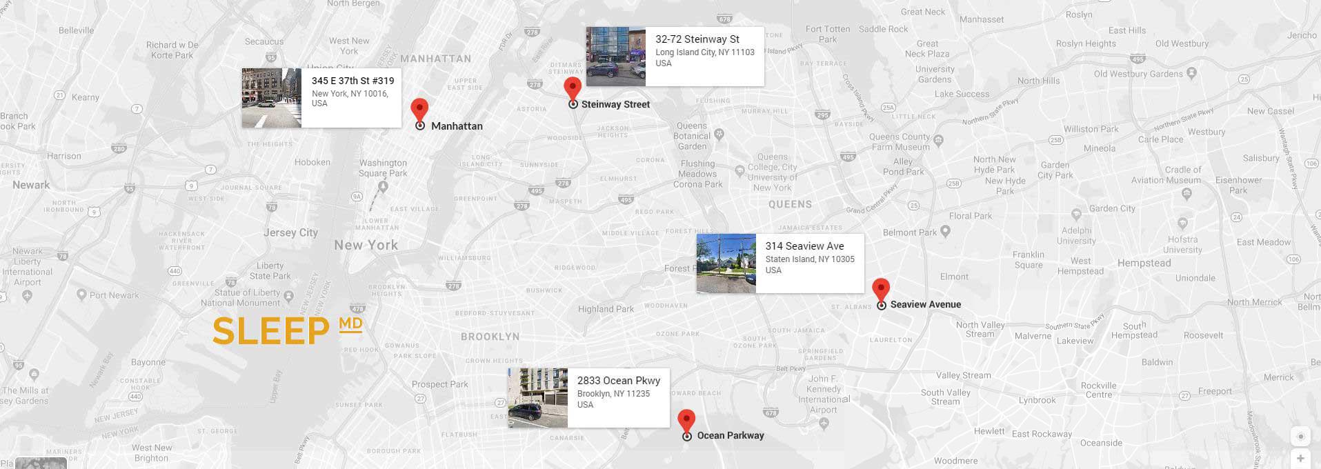 All addresses location map