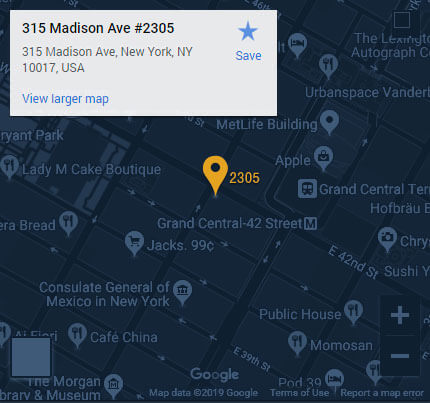 manhattan location map