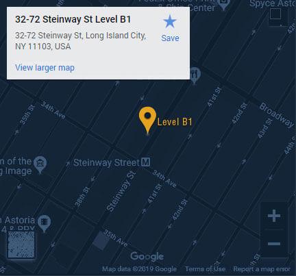 Queens location map
