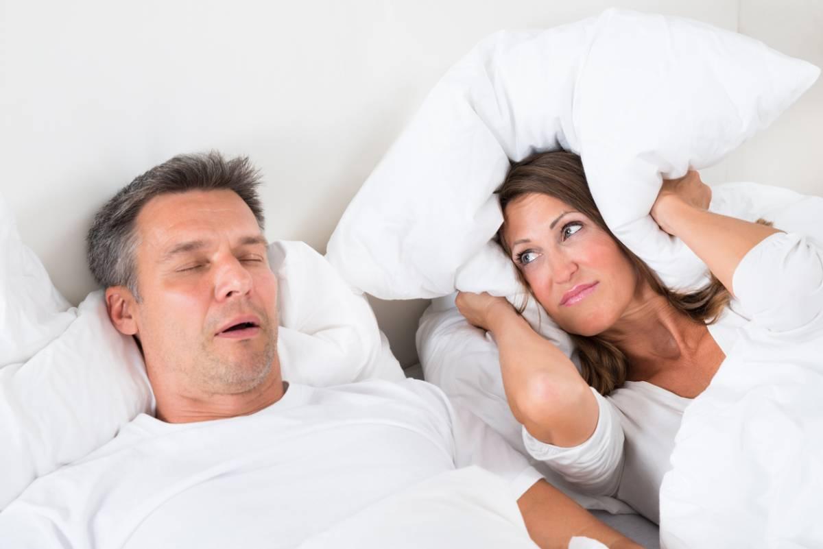 Man with sleep apnea.